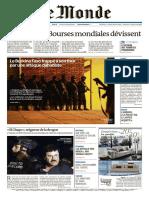 Le Monde 17 Janvier 2016