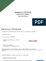BARROCO ESTÍPITE