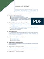 Cuestionario de Edafología