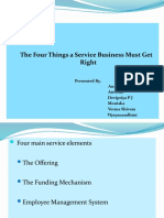The 4 things service business must get right