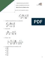 Taller parcial 8° algebra