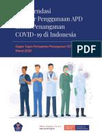 Rekomendasi Standar Penggunaan APD untuk Penanganan COVID-19 di Indonesia