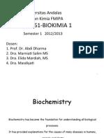 1 Biohemistry Introduction