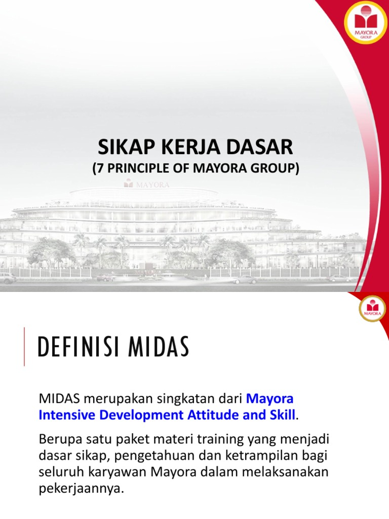 Sikap Kerja Dasar 7 Principle Of Mayora Group