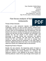 Five forces analysis of fast food restaurants