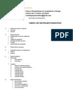 6- Modelo Check List de Projeto Executivo - 4 Cantos
