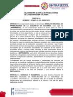 2. ESTATUTOS SINTRASECOL CON CORRECIONES DE SEXTA ASAMBLEA NACIONAL (1)