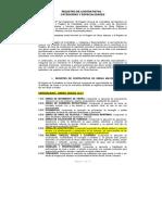 Documento Registro de Contratistas-Categorias y Especialidades