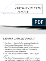 Rajesh Gomra Ppt on Exim Policy y