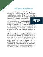 ORACION DE SAN PATRICIO