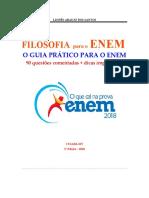 FILOSOFIA para o ENEM  2018 - 90 questões comentadas + dicas importantes
