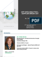 7. Paris IATF Stakeholder Event Data Analytics Supplier Breakout