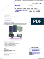 A Complete Guide about Solar Panel Installation. Step by Step Procedure with Calculation and Images - Electrical Technology