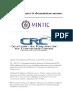 Organismos de Control de Telecomunicaciones Nacionales y Internacionales