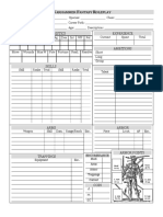 WHFRP Sheet
