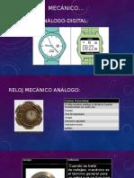 Reloj mecánico analogo digital completo