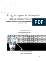 programa de desarrollo del pensamiento crítico