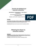 Obtencion de Biodiesel Por Reaccion Extractiva