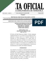 Gaceta Oficial N° 41.852