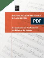 Acordeón Programacion Didactica Getafe