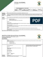 PLANEADOR DE CLASES LENGUA CASTELLANA