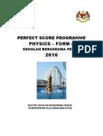 Physics Perfect Score Module Form 4