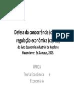 (Defesa da concorrência _(cap 21_), regulação economica)