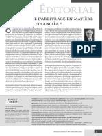 Le spectre de l'arbitrage en matière bancaire et financière.pdf