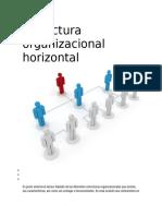 Estructura organizacional horizontal