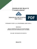 REGLAS GENERALES PARA EL USO DEL SISTEMA INTERNACIONAL