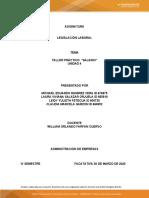 TALLER PRACTICO SALARIO