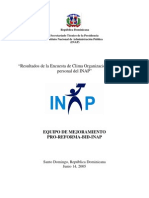 Encuesta Clima Organizacional INAP