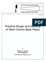 1999 - 07 Practical Design Detailing of Steel Column Base Plates