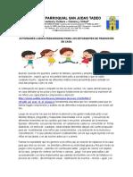 ACTIVIDADES LUDICO PEDAGÓGICAS PARA LOS ESTUDIANTES DE TRANSICIÓN EN CASA