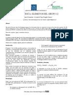 LEY PERIÓDICA ELEMENTOS DEL GRUPO 12