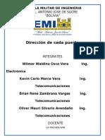 Direccion de cada puerto
