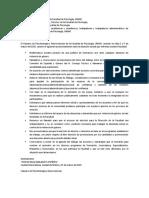 Segundo posicionamientodel Claustro de Psicobiología y Neurociencias, Licenciatura y Posgrado. 2020-03-05. Fac Psicología UNAM