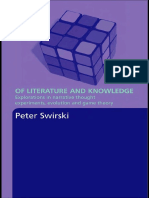 Peter Swirski-Of Literature and Knowledge_ Explorations in Narrative Thought Experiments, Evolution, and Game Theory (2007)