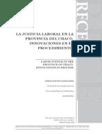 la justicia laboral en la provincia de Chaco