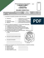 examen bimetral cya 5to grado Ibimestre