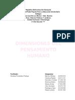 Tema I -DIMENSIONES DEL PENSAMIENTO HUMANO Grupo 1