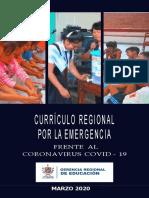 Currículo regional frente al COVID-19