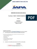 SEMINARIO EDUCACION INICIAL TAREA 4