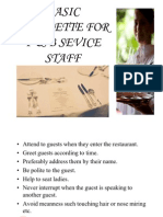 F& B Services Induction Manual