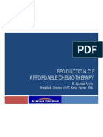 Production of Affordable Chemotherapy