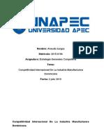 Competitividad Internacional De La Industria Manufacturera Dominicana ensayo.docx