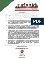 04abr2020 - Comité Central - Ante Los Ejercicios Militares EEUU en La Zona de Cúcuta
