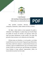 Carta Pastoral del Arzobispo Metropolitano de Piura