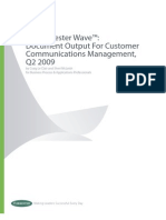 Forrester Wave Document Output for Customer Communications Management 2009[1]