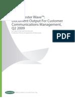 Forrester Wave Document Output for Customer Communications Management 2009[1]